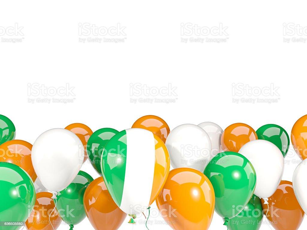 Flag of ireland with balloons stock photo