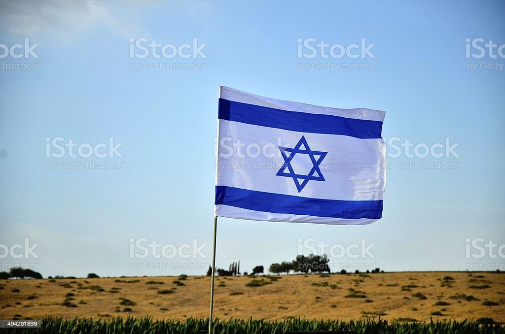 Flag of Israel outdoors royalty-free stock photo