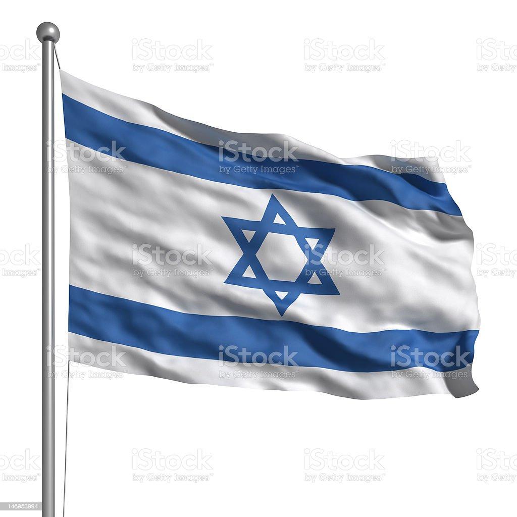 Flag of Israel (Isolated) stock photo