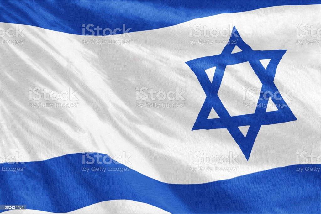 Flag of Israel royalty-free stock photo