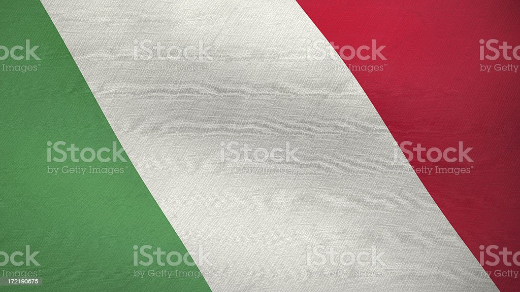 3D flag of Italy royalty-free stock photo