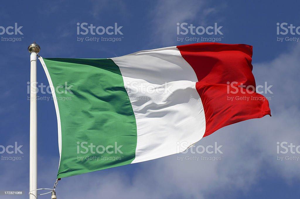 Flag of Italy stock photo