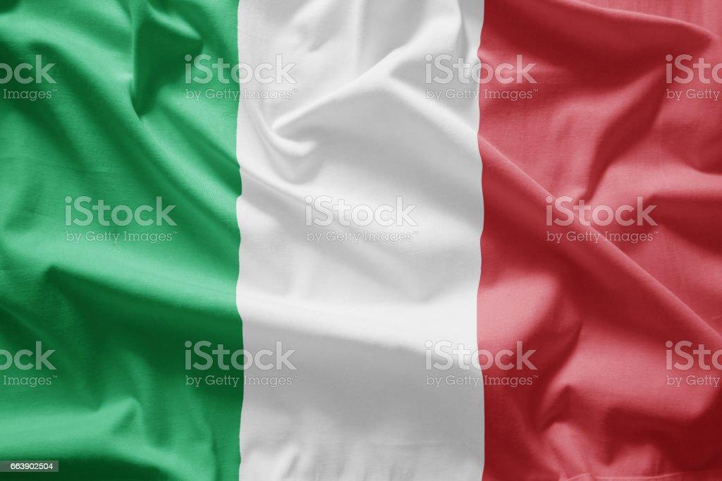 Bandera italiana - foto de stock