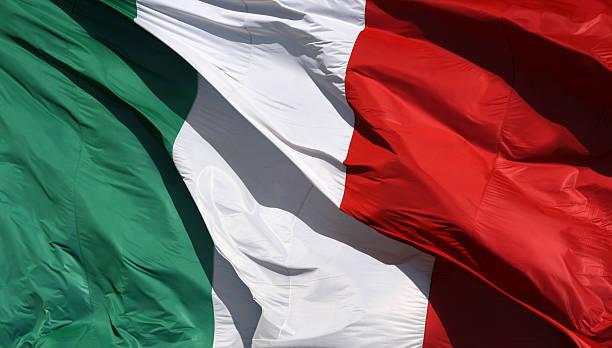 Italienische Flagge in der Sonne und wind, Italien – Foto
