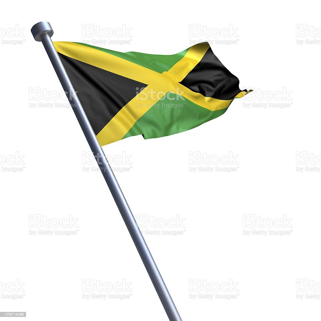 Bandeira da Jamaica, isolada no branco