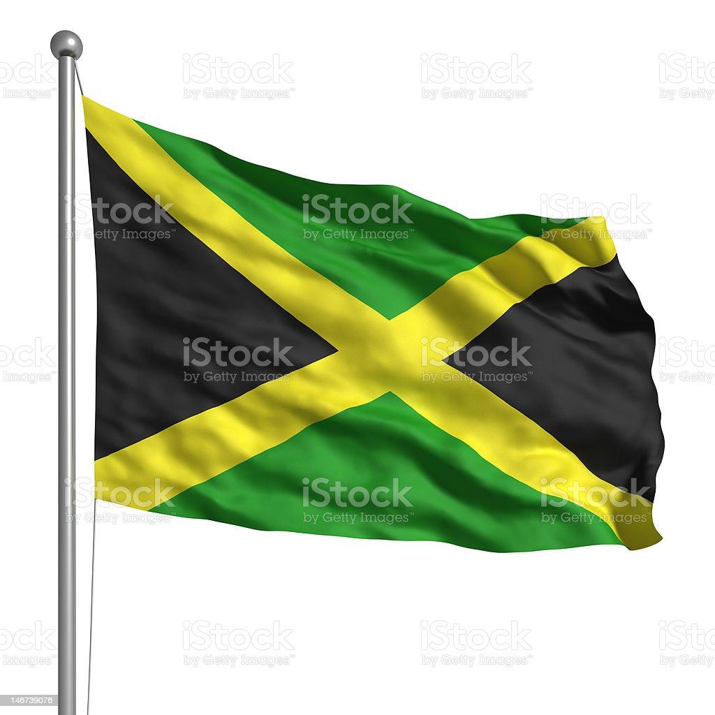 Bandeira da Jamaica (isolado - foto de acervo