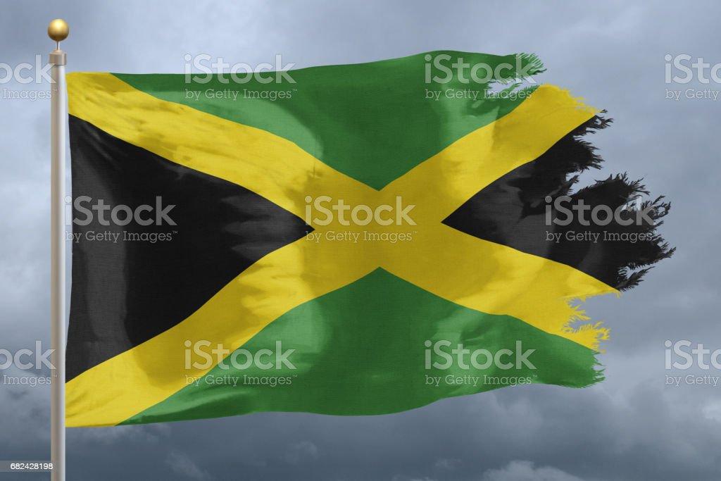 Flag of Jamaica royalty-free stock photo