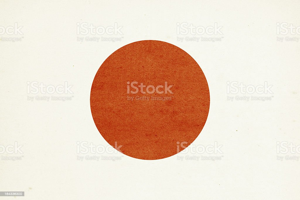 Flag of Japan Close-Up (High Resolution Image) royalty-free stock photo