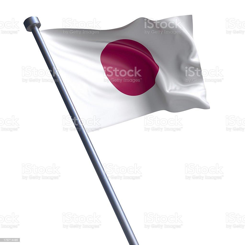 Bandeira do Japão isolada no branco