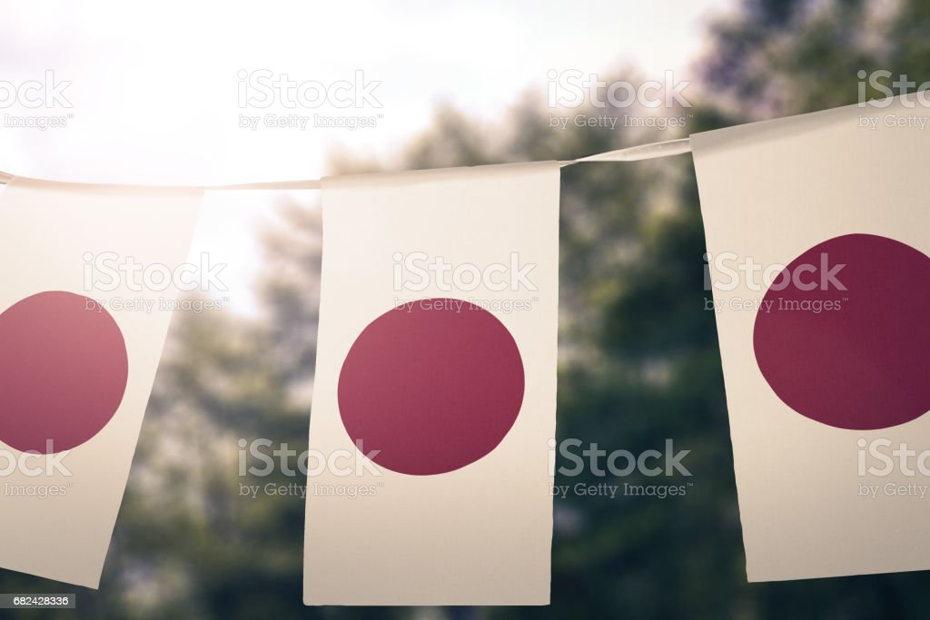 Flag of Japan royalty-free stock photo