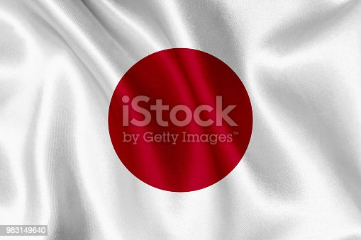 istock Flag of Japan waving background 983149640