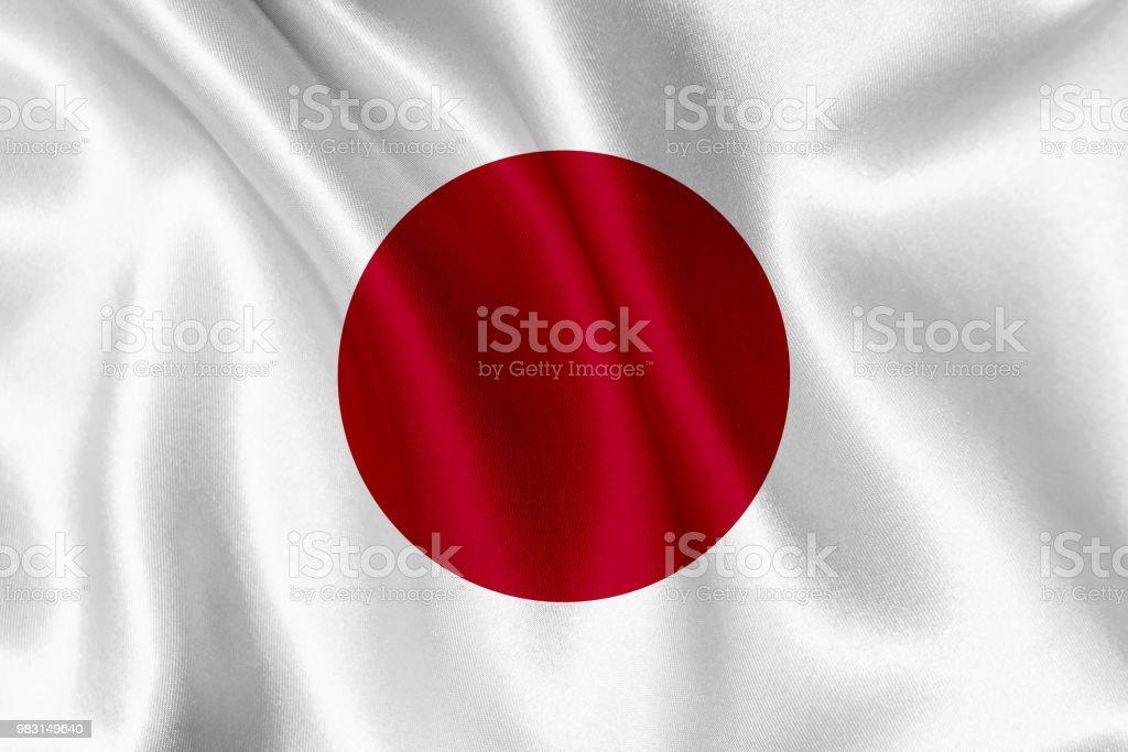 Bandeira do Japão acenando fundo - foto de acervo