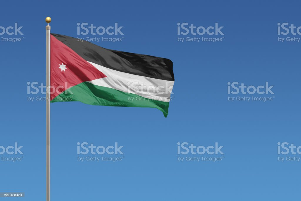 Flag of Jordan royalty-free stock photo