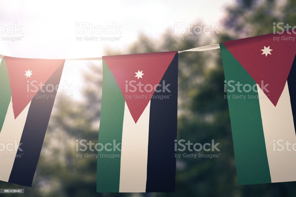 Flag of Jordan royalty-free stock photo
