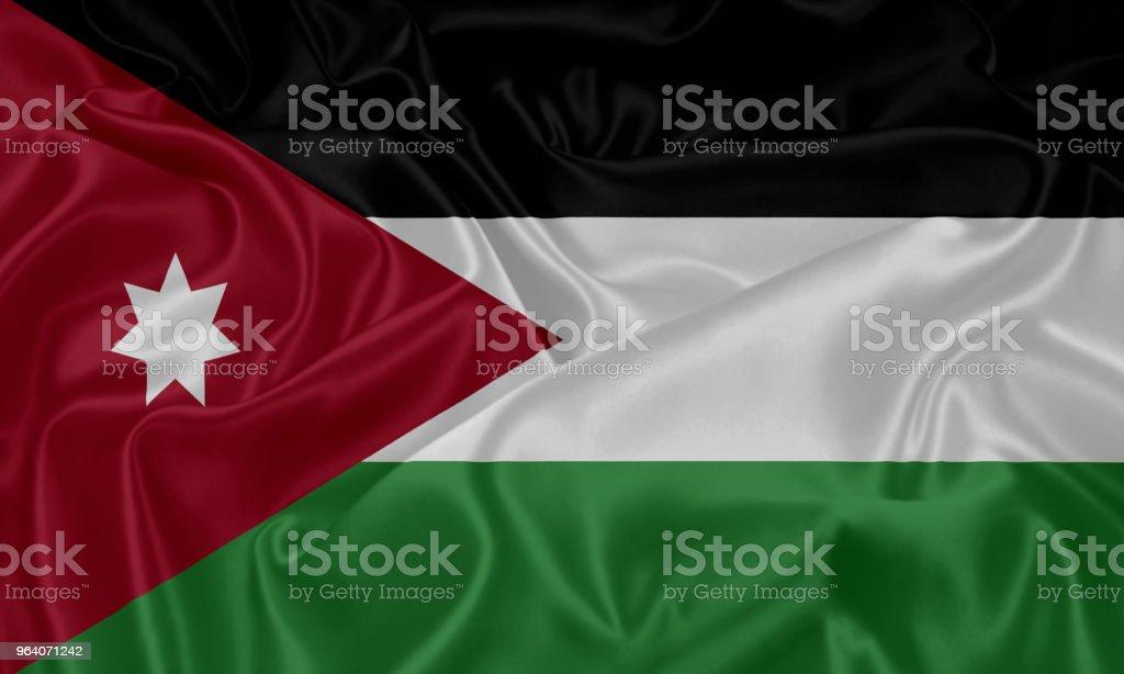Flag of Jordan - Royalty-free Backgrounds Stock Photo