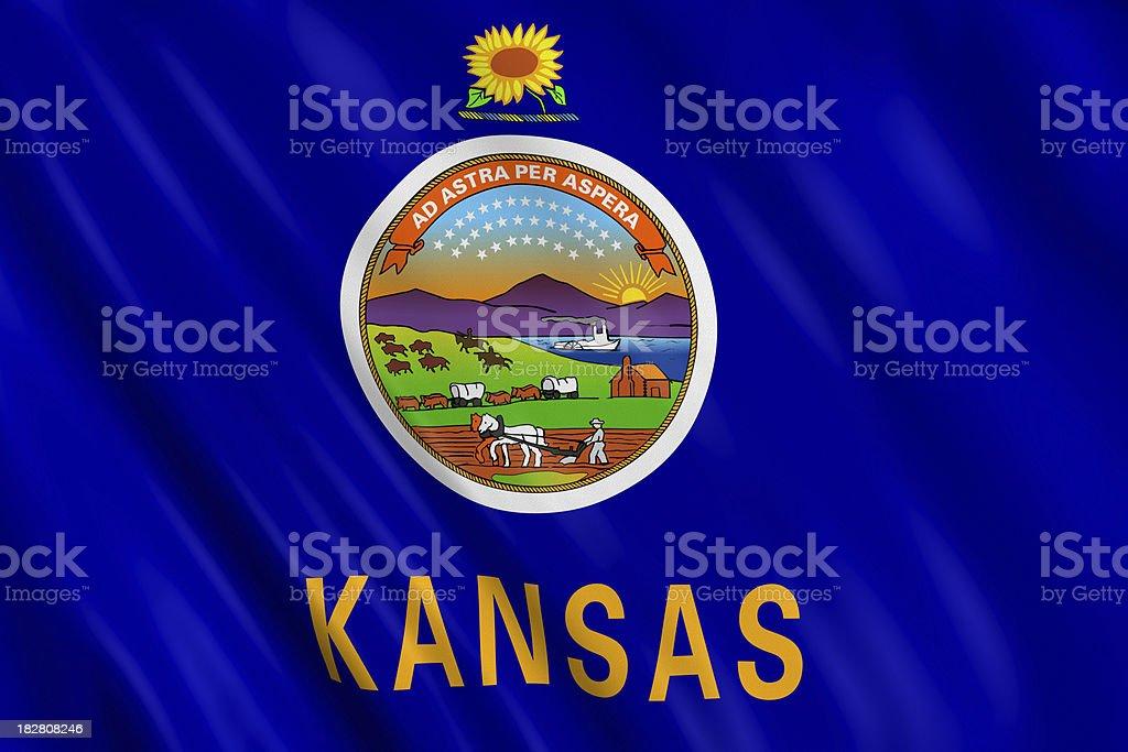 flag of kansas royalty-free stock photo