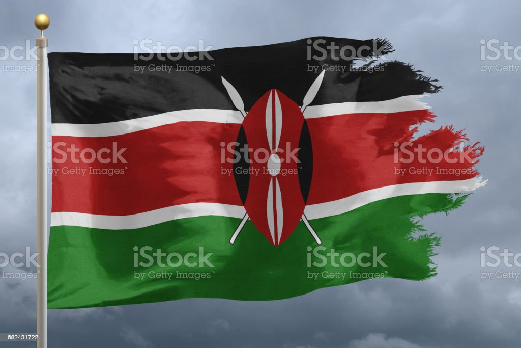 Flag of Kenya royalty-free stock photo