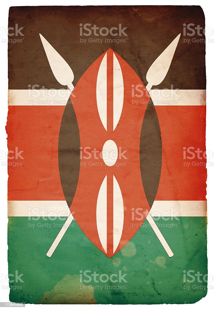 Flag of Kenya XXXL royalty-free stock photo