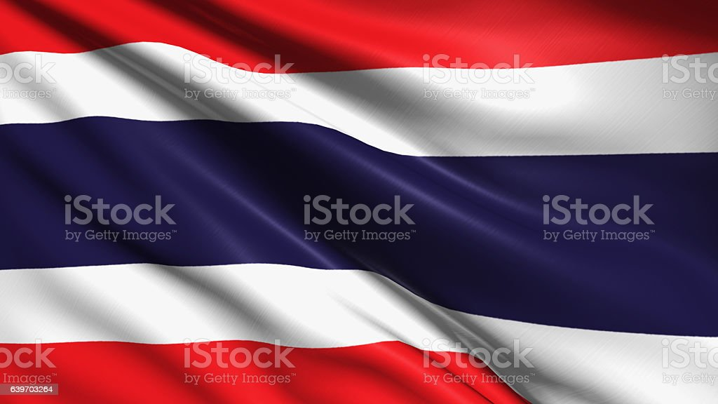 flag of Kingdom of Thailand stock photo