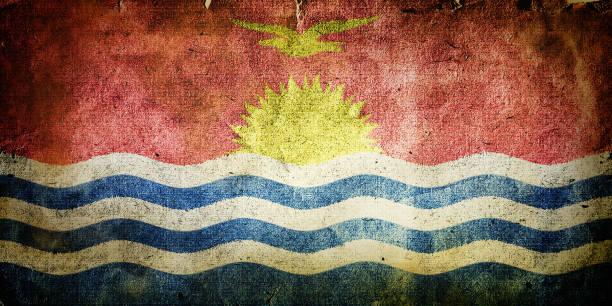 Flag of Kiribati stock photo
