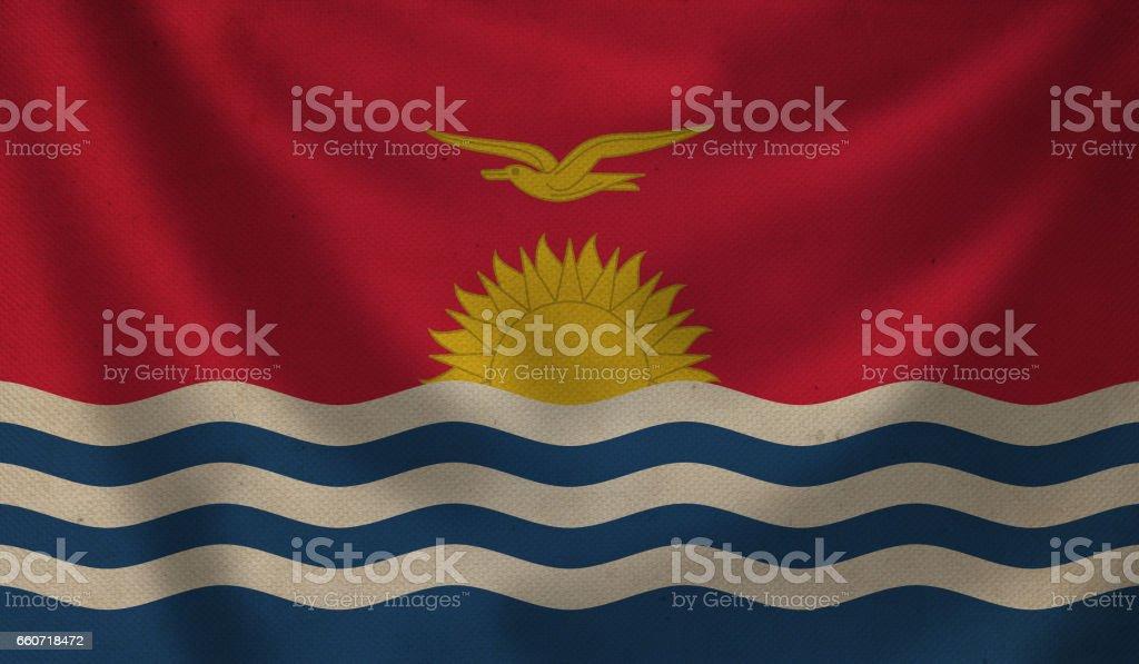 Flag of Kiribati. stock photo
