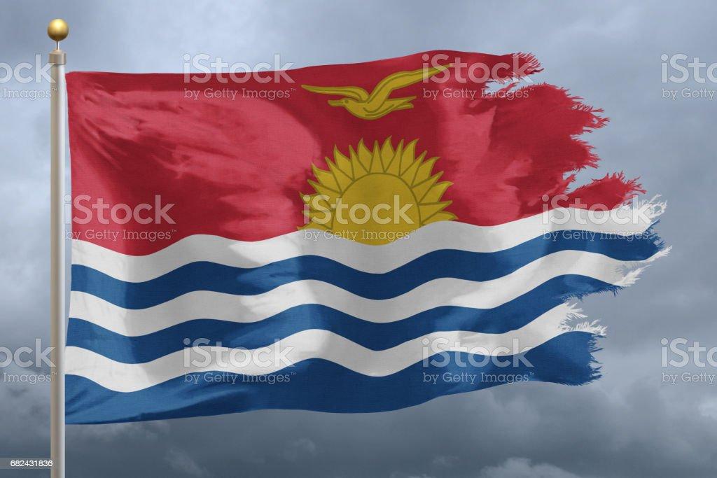 Flag of Kiribati royalty-free stock photo