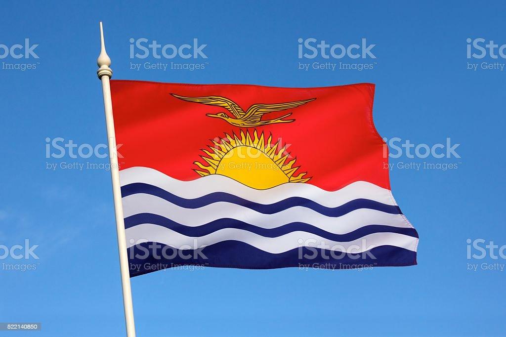 Flag of Kiribati - South Pacific Ocean stock photo