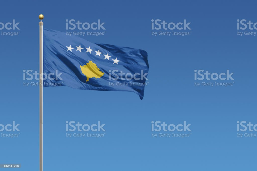 Flag of Kosovo royalty-free stock photo
