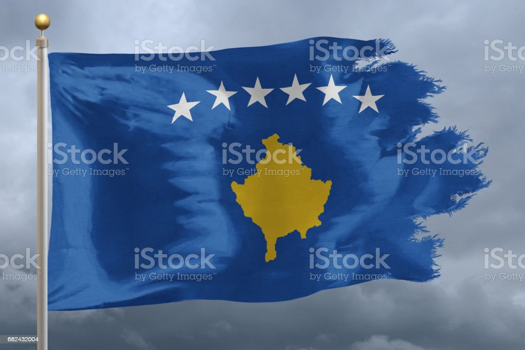 Flag of Kosovo photo libre de droits