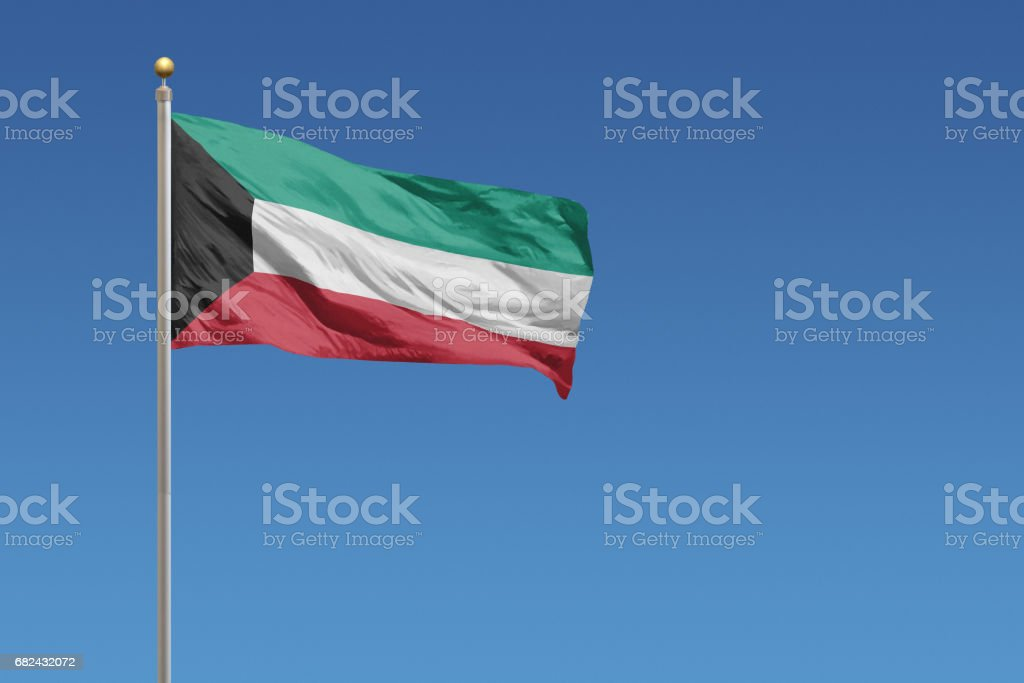 Flag of Kuwait photo libre de droits