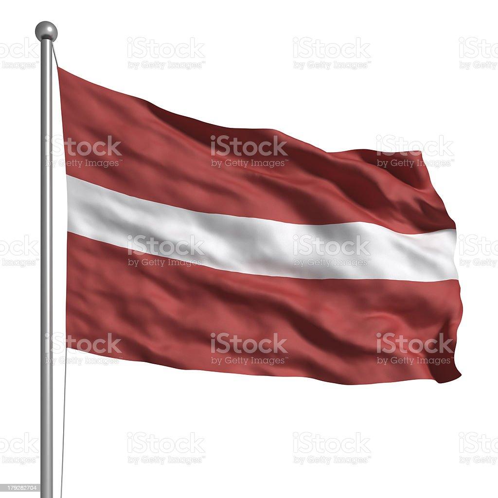 Flag of Latvia (Isolated) stock photo