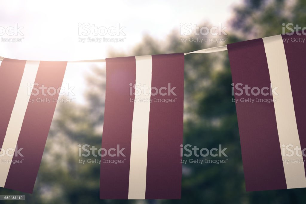 Flag of Latvia royalty-free stock photo