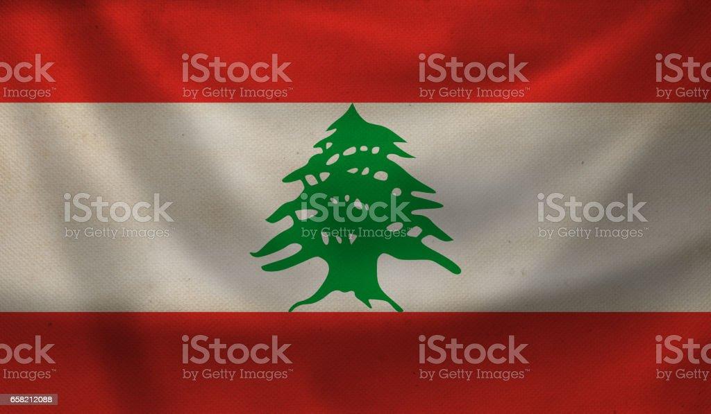 Flag of Lebanon. stock photo