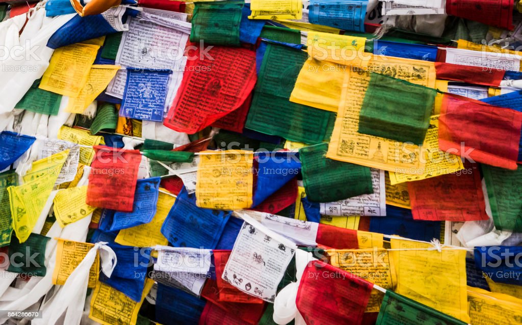 Flag of leh ladakh royalty-free stock photo
