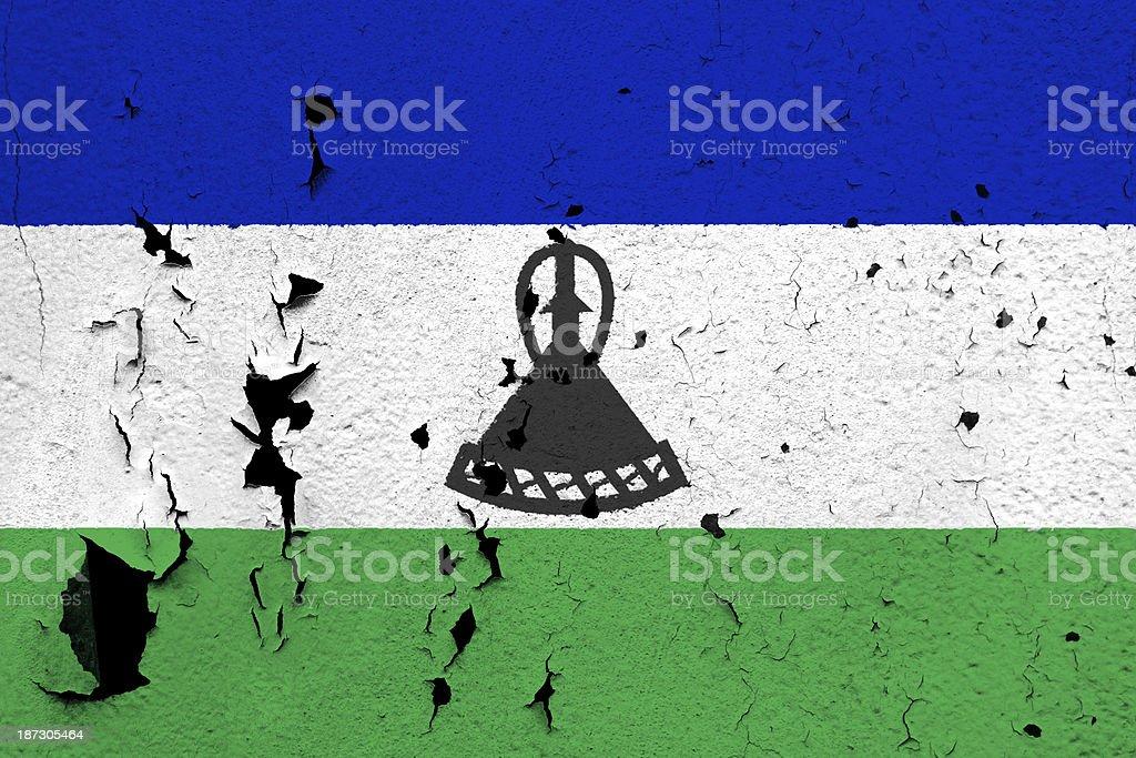 Flag of Lesotho royalty-free stock photo