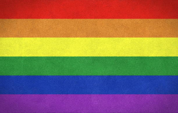 Flag of LGBT stock photo