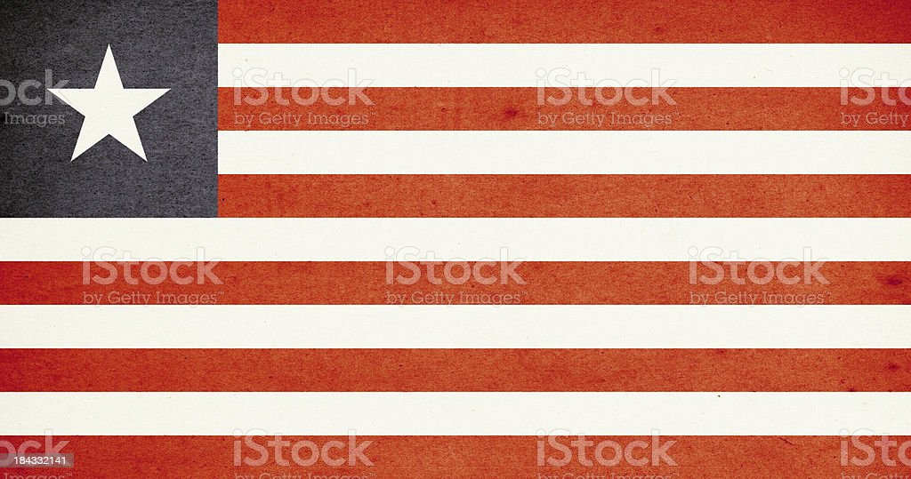 Flag of Liberia Close-Up (High Resolution Image) royalty-free stock photo