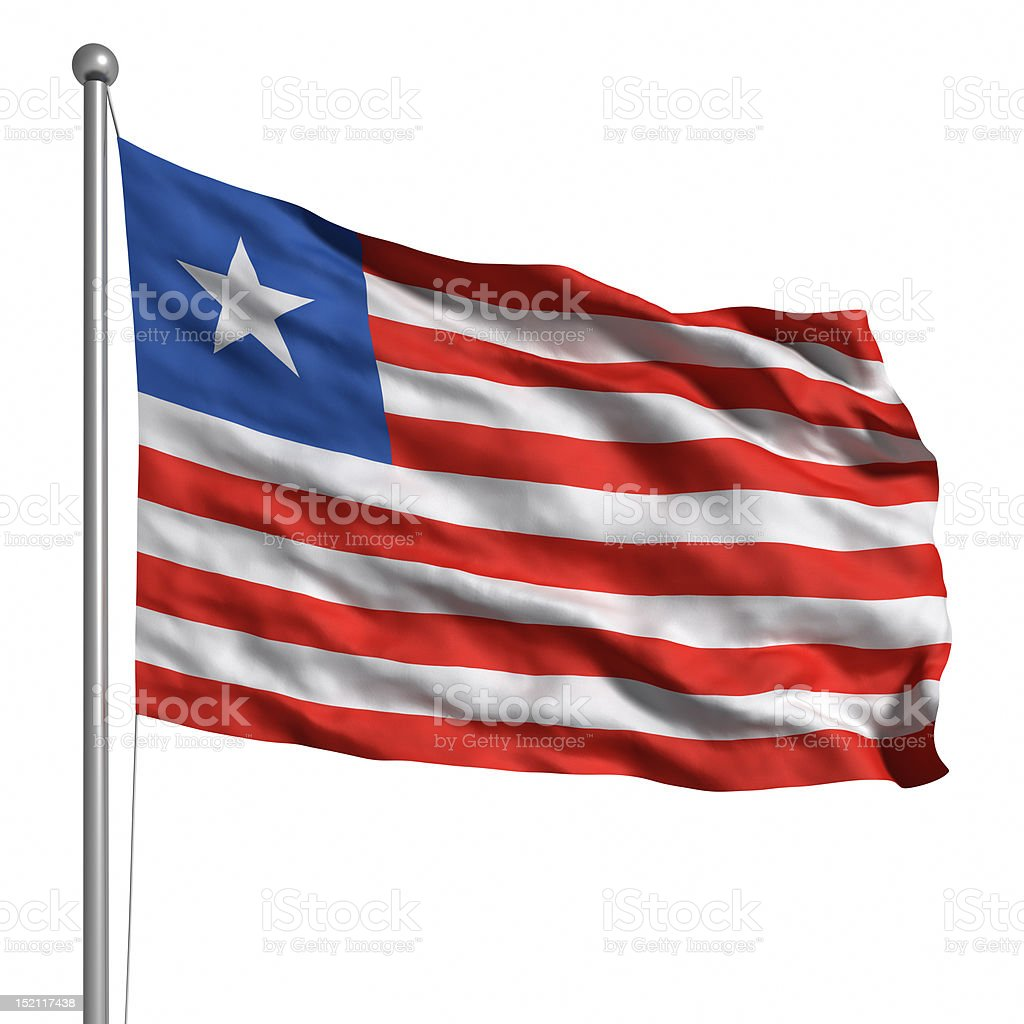 Flag of Liberia (Isolated) royalty-free stock photo