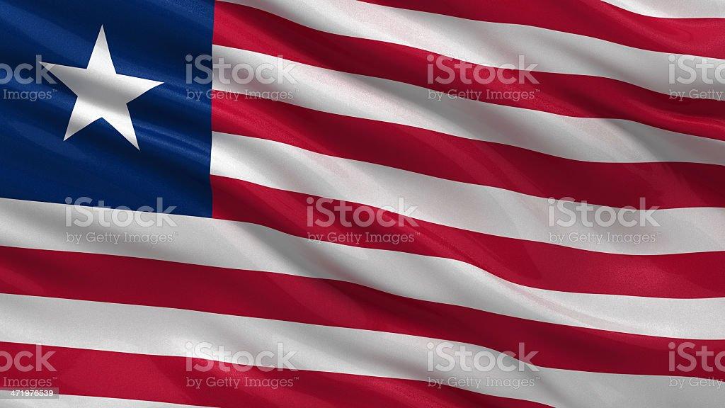 Flag of Liberia stock photo