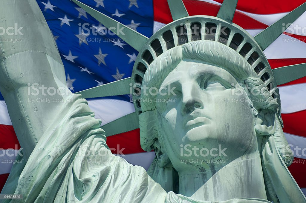Flag of Liberty stock photo