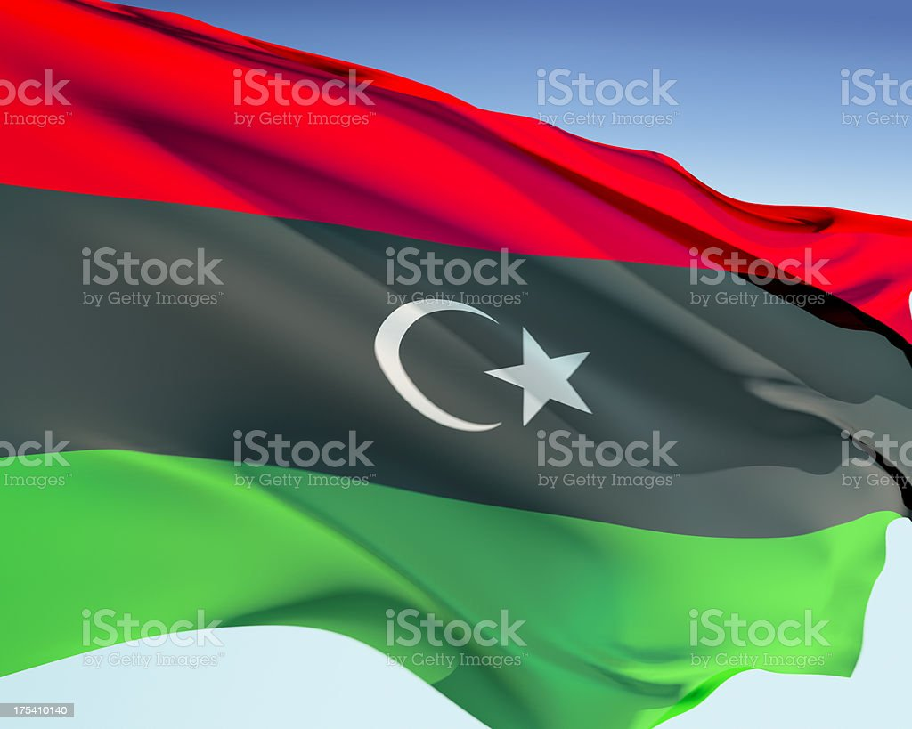 Flag of Libya stock photo