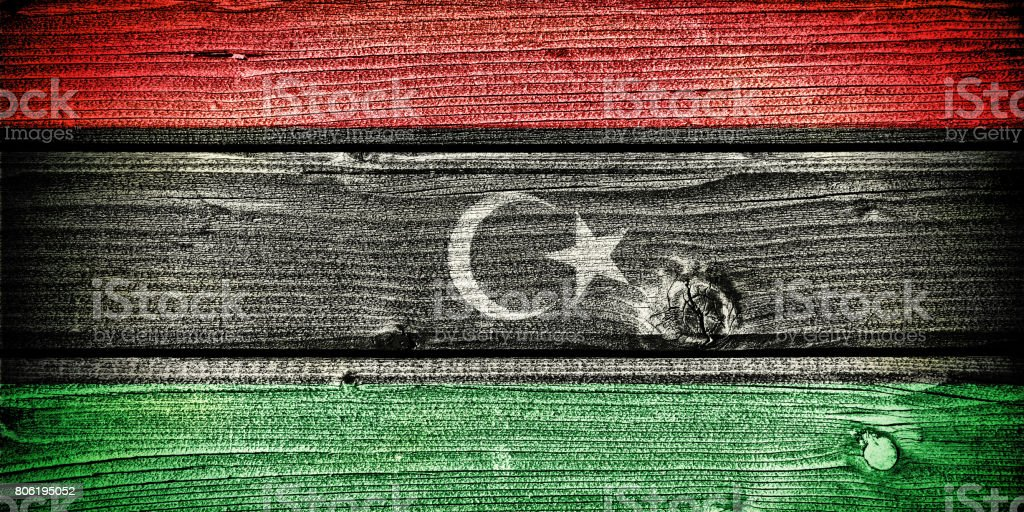 flag of Libya stock photo