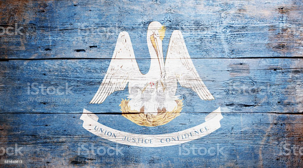 Flag of Louisiana stock photo