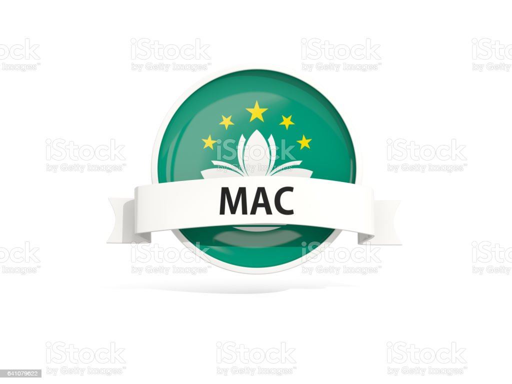 Flag of macao with banner stock photo