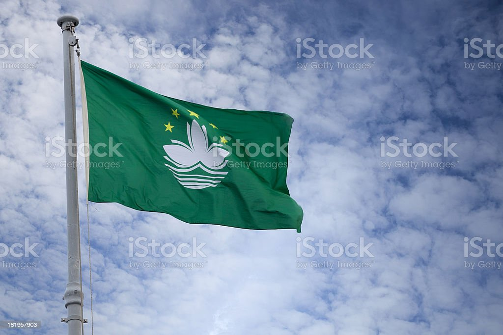Flag of Macau stock photo