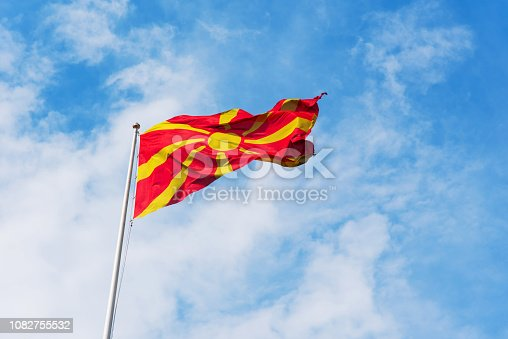 686175420 istock photo Flag of Macedonia 1082755532