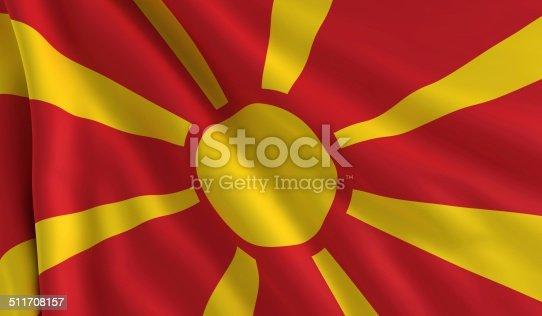 istock Flag of Macedonia 511708157