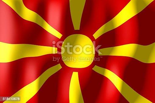 istock Flag of Macedonia 518410678