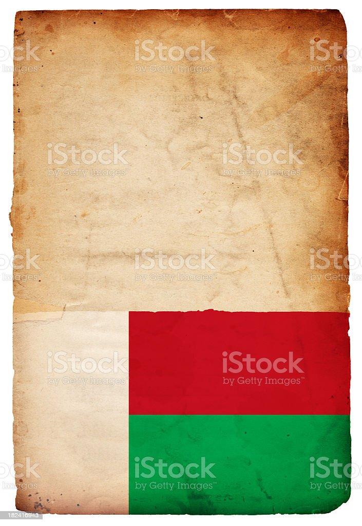 Flag of Madagascar - XXXL stock photo