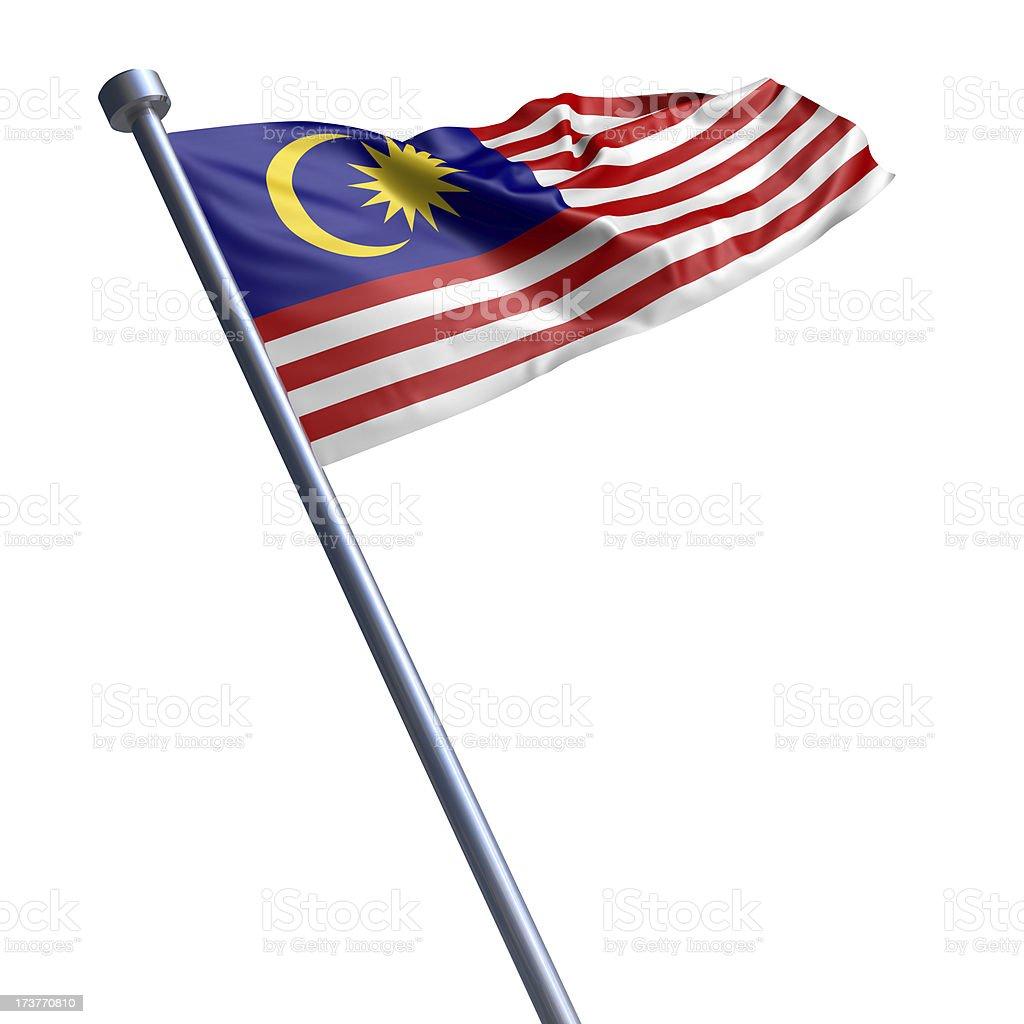 Bandeira da Malásia isolada no branco